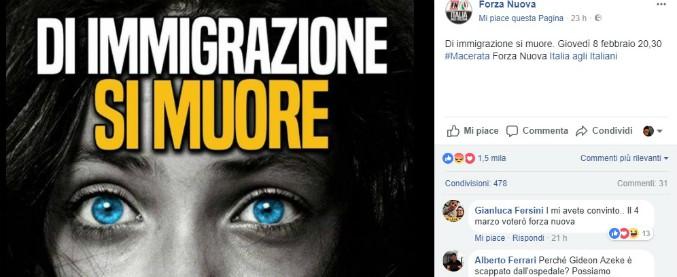 """Macerata: CasaPound e Forza Nuova in corteo, Anpi sospende il suo. Sui social: """"Scelta aberrante"""""""