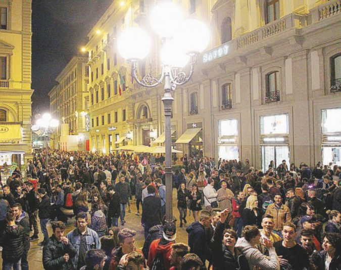 Il Dolce Stil alcolico dei giovani fiorentini