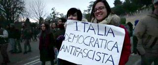 """Macerata, antifascisti in piazza: """"Pd assente? Fa il gioco delle destre, se ne assumerà la responsabilità"""""""