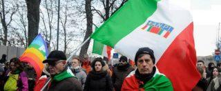 """Corteo Macerata, Salvini: """"Da italiano mi vergogno"""". Sala: """"Il Pd? E' sempre meglio esserci"""". Grasso: """"Dem deboli sul tema"""""""