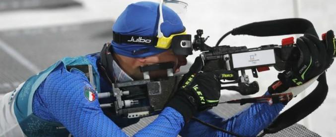 Olimpiadi invernali, prima medaglia per l'Italia: bronzo di Windisch nel biathlon