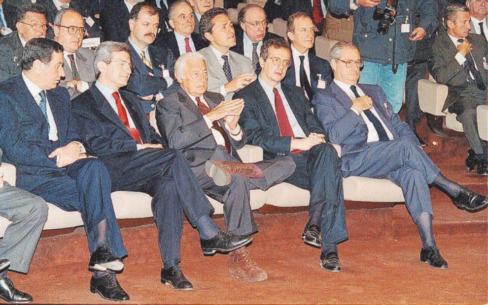 Mancino, Violante, Agnelli, Veltroni e Romiti negli Anni 90