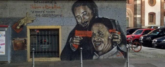 Milano, vandalizzato il murales dedicato a Giovanni Falcone e Paolo Borsellino