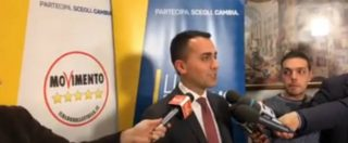 """M5S, Luigi Di Maio: """"Ho chiesto ai leader di tutte le forze politiche di firmare per dimezzare stipendi degli eletti"""""""