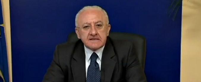 """Napoli, De Luca sull'inchiesta di Fanpage: """"Effervescenze"""". Ma la Regione Campania domani sostituisce il dirigente indagato"""