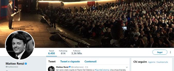 Elezioni e social /2 – Renzi trascura Twitter e da rottamatore diventa restauratore