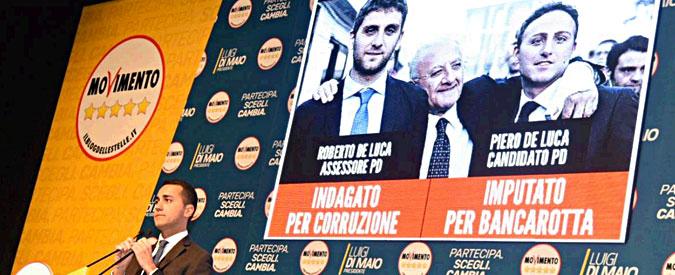 """Napoli, De Luca: """"Usano i camorristi per ricattarci"""". Di Maio: """"Loro sono gli assassini politici della mia gente"""""""