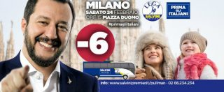 """Elezioni, la Lega scrive """"Prima gli italiani"""" ma nei manifesti usa modelli stranieri"""