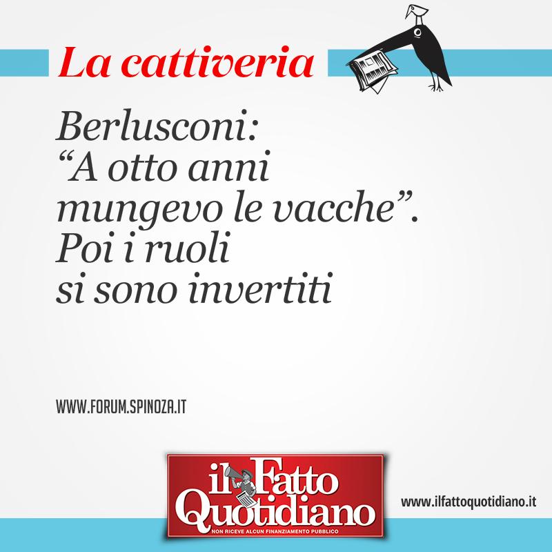 """Berlusconi: """"A otto anni mungevo le vacche"""". Poi i ruoli si sono invertiti"""