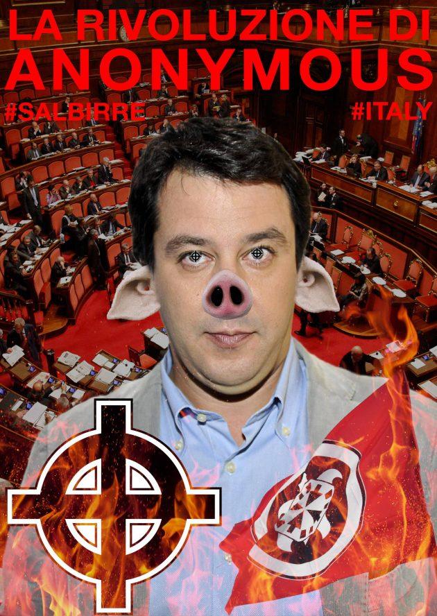 Elezioni, hackerato Salvini: leader Carroccio 'camuffato' da maiale. Online anche 70mila mail