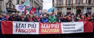 Cortei antifascisti in tutta Italia: migliaia a Roma con l'Anpi, c'è anche Gentiloni. A Milano alcuni contusi in mattinata – LA DIRETTA