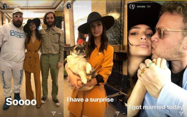 Emily Ratajkowski si è sposata: l'annuncio su Instagram