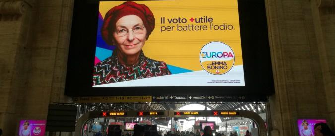 Elezioni, esposto sulla campagna di +Europa e dubbi sui finanziatori. Ma sui maxischermi nelle stazioni c'è lo sconto