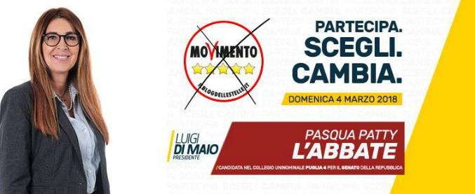 """""""Patty L'Abbate non è impresentabile"""": la candidatura della grillina in Puglia """"è conforme al regolamento M5s"""""""