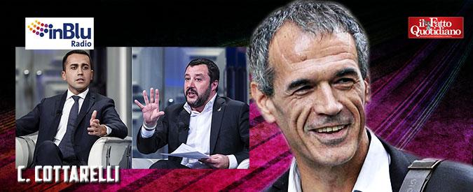 """Governo Lega-M5S, Cottarelli: """"Un'alleanza che non farebbe salire lo spread, mercati narcotizzati da Draghi"""""""