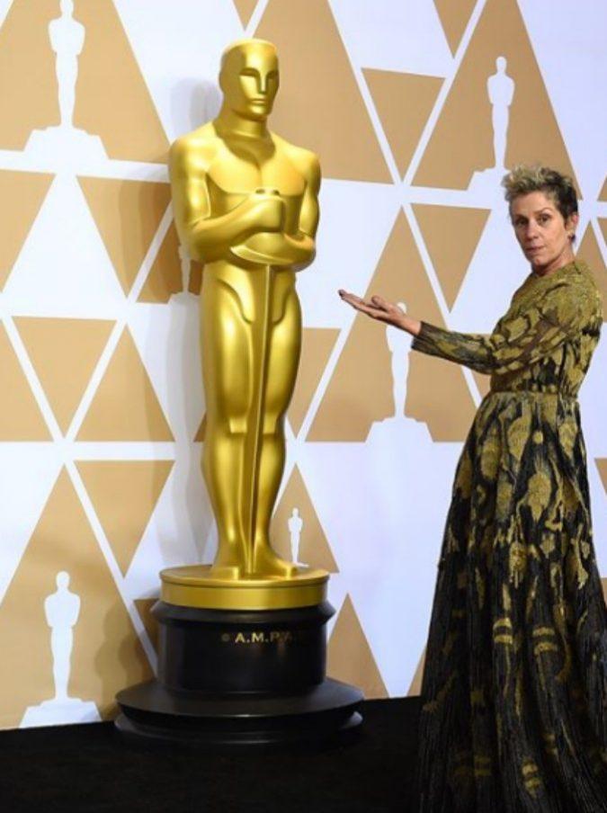 Oscar 2018, chi è il ladro della statuetta di Frances McDormand 'beccato' dopo pochi minuti (VIDEO)