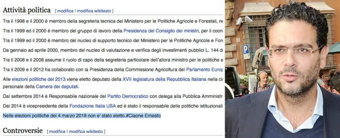 """Risultati elezioni 2018, il """"ciaone"""" degli elettori ad Ernesto Carbone: resta fuori. E lo sberleffo arriva fino a Wikipedia"""