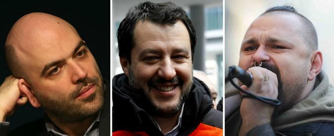 """Elezioni, Salvini: """"Un brindisi a Saviano e ai 99 Posse"""". Lo scrittore cita Gomorra: """"Biv, famm' capì si me pozz' fida' 'e te"""""""