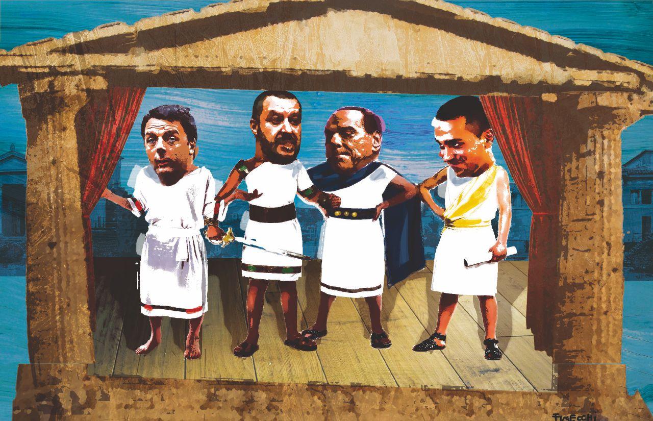 Come la commedia del teatro greco: ha vinto il salsicciaio