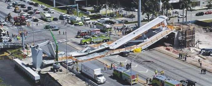"""Miami, un ponte crolla su una strada. """"Quattro persone sono morte schiacciate"""""""