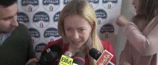 """Meloni (Fdi): """"Indisponibili a governi fuori da campo centrodestra. Se Salvini fallisce? Indichi lui il piano B"""""""