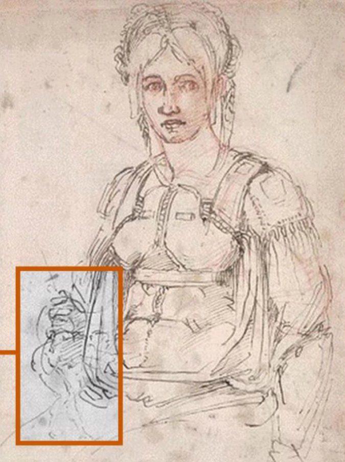 Michelangelo, scoperta una caricatura dell'artista nascosta in un suo disegno