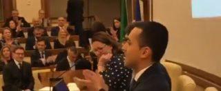 """Di Maio alla prima riunione dei senatori M5s: """"Dei ministri si parla con il Colle, dei temi con i partiti"""""""