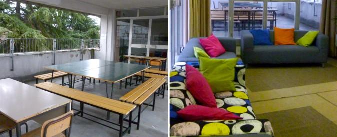 """Pistoia, al liceo lezione sul divano. E il giardino diventa l'aula: """"I ragazzi hanno bisogno di aria"""""""