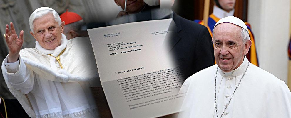 Vaticano, lettera di Ratzinger tagliata e taroccata: si dimette Viganò, prefetto della segreteria per la comunicazione