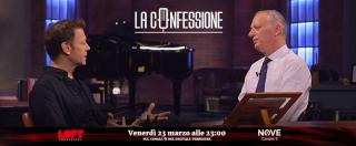 """La Confessione, ospite Rocco Siffredi: """"Lapo Elkann? Un artista. Vip e politici vanno a trans, ma sono ipocriti"""""""
