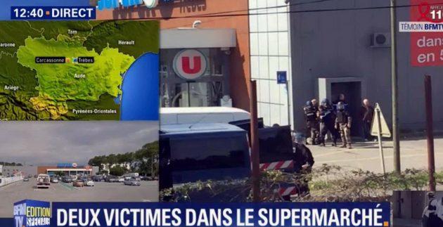 """Francia, attacco a Trebes: fuori dal supermercato i clienti sequestrati da attentatore. """"Sono dell'Isis"""", due ..."""
