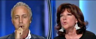 """Travaglio e le """"puttanate"""" della Casellati sui processi di Berlusconi, appena condannato. Lo scontro a Otto e Mezzo"""