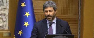 """Camera, Roberto Fico emozionato: """"Siamo tutti a disposizione del sogno che da anni cerchiamo di costruire. Ora Di Maio premier"""""""