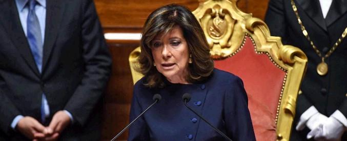 """Alberti Casellati, discorso della presidente del Senato: """"Donne hanno costruito Italia di oggi. Nessun traguardo è più precluso"""""""