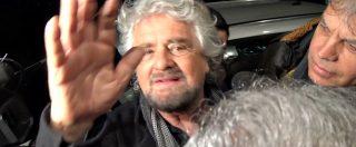 """M5s, Grillo alla festa per Fico: """"Mi chiama gente in lacrime, il sistema è finito. Lega? Non mi occupo di post politica"""""""