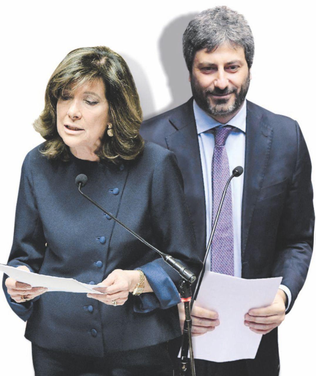In Edicola sul Fatto Quotidiano del 25 marzo:  Le due Camere a Fico e Casellati (con figlia piazzata al ministero)