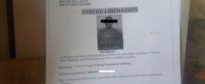 Niger, Johnson finito in galera mentre i falsari europei sono fuori