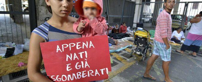 Sgomberi rom: molto semplice, quanto inutile, combattere i poveri con le ruspe