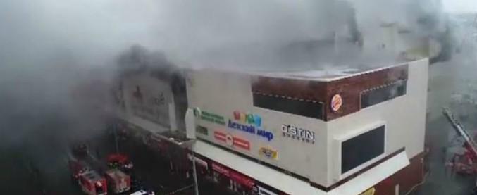 Siberia, incendio in centro commerciale: oltre 60 morti, molti sono bambini