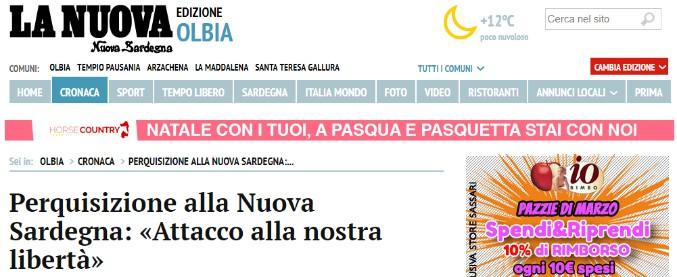 Tempio Pausania, perquisita giornalista de La Nuova Sardegna: 'Attacco a libertà. È un atto intimidatorio senza precedenti'