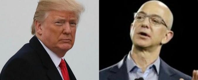 Trump, l'ossessione per Amazon e Bezos: minaccia di nuove tasse è avvertimento da offrire sull'altare dell'America First