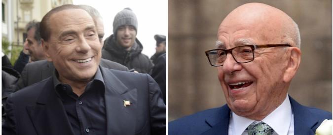 Mediaset a nozze con Sky, Berlusconi mette Premium nelle mani del vecchio nemico Rupert Murdoch