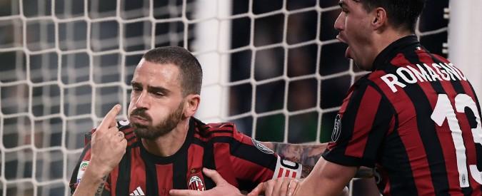 Juventus-Milan, Bonucci festeggia e i suoi ex tifosi lo fischiano: meglio un'esultanza ingrata che il finto rispetto