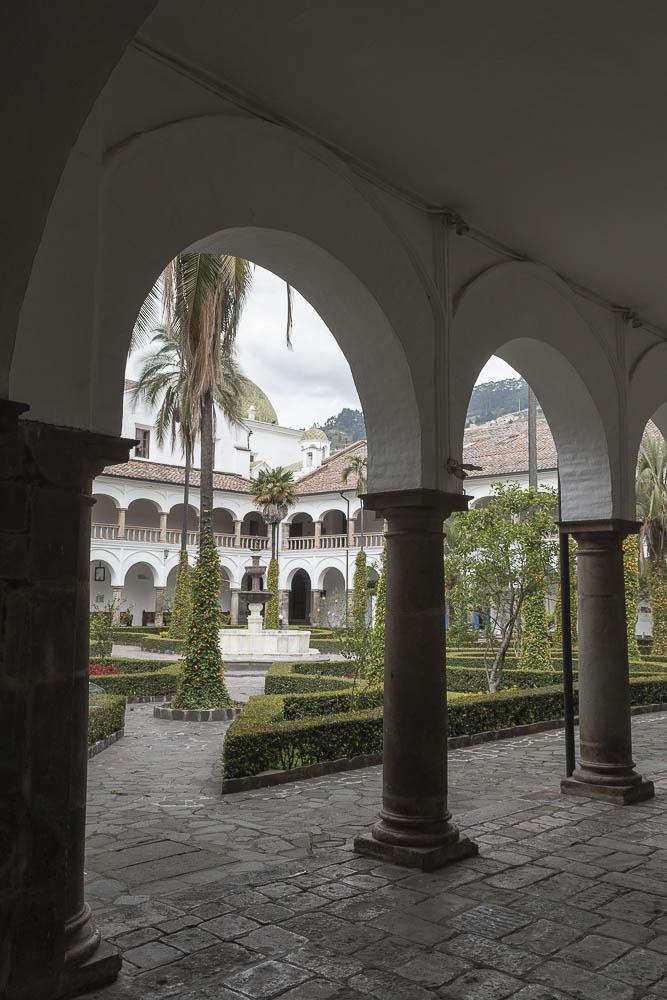 The  monastery of San Francisco, Ecuador's oldest church, founded in 1534, Quito, Ecuador.