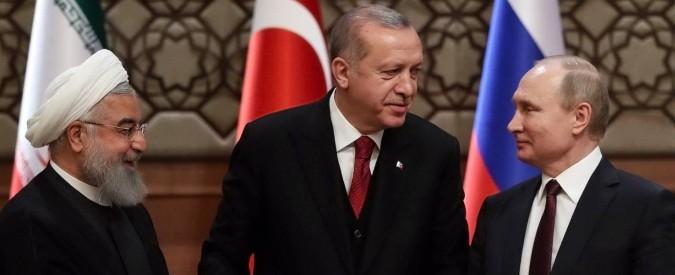 Siria. Putin, Erdogan e Rohani trattano per spartirsi il Paese in zone d'influenza