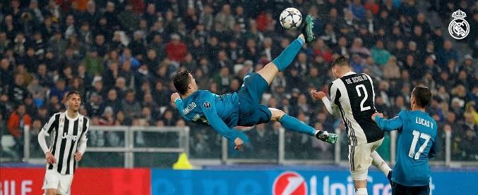 Juve Real Standing Ovation E Applausi Per Il Gol In Rovesciata Di