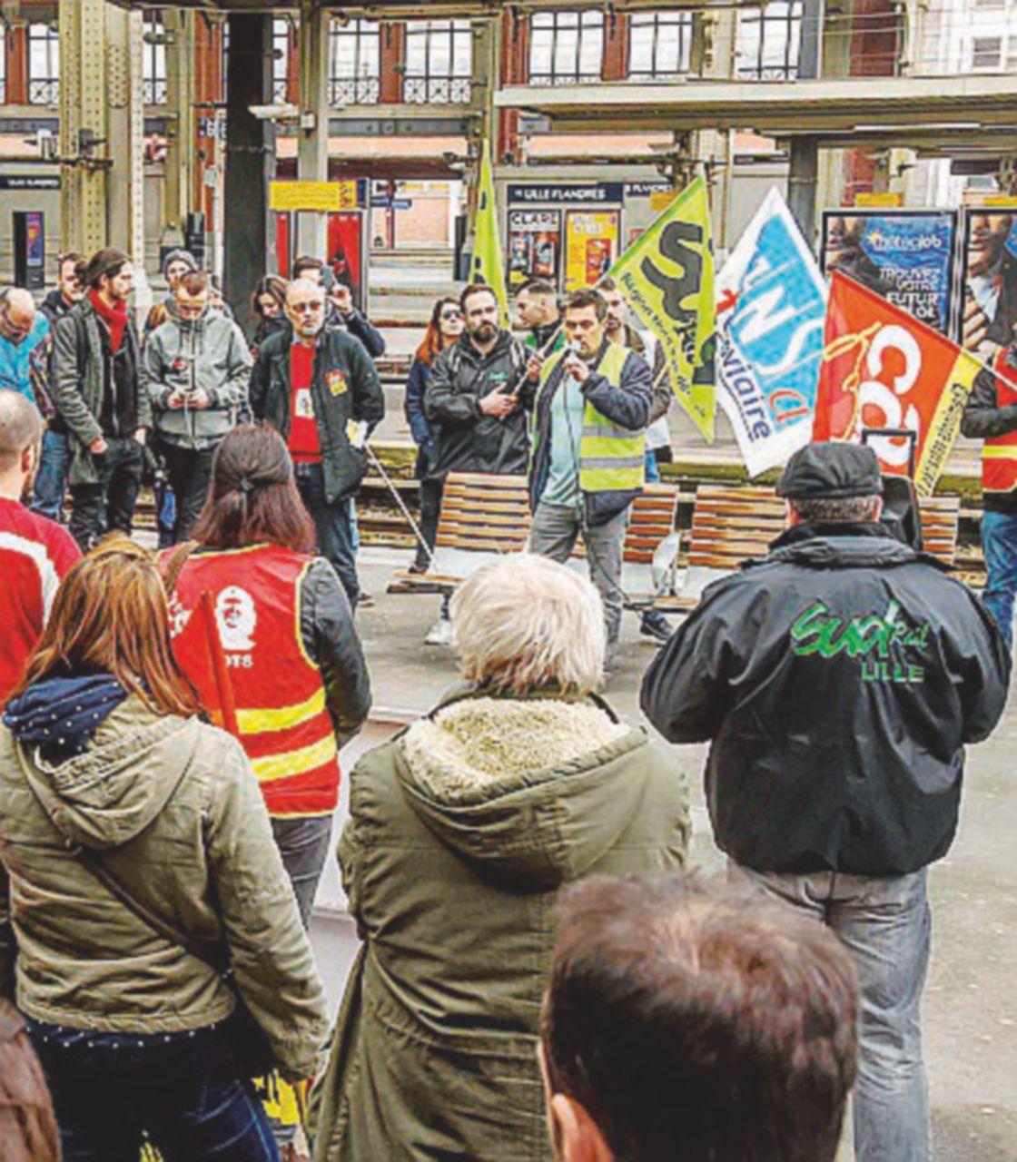 Studenti-ferrovieri, alleati contro Macron