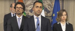 """Consultazioni, Di Maio: """"Aperture sincere, contratto con Lega o Pd. Mai voluto spaccare i dem"""""""