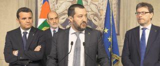 """Consultazioni, Salvini: """"Punto a un governo stabile per 5 anni. Si parte dal centrodestra coinvolgendo il M5s"""""""