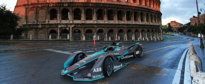 Formula E, un giro di pista virtuale sul circuito romano dell'Eur – VIDEO